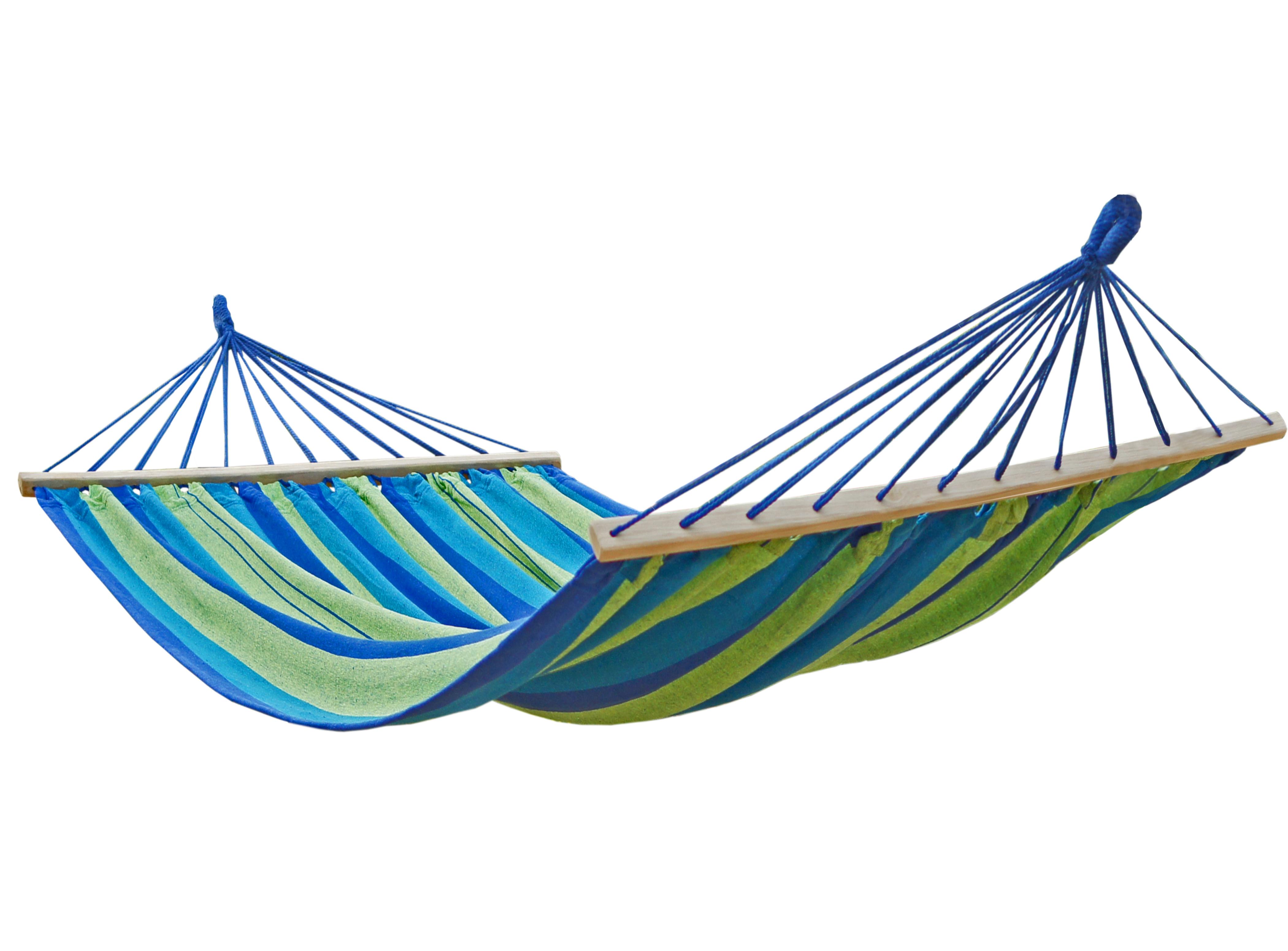 Hängematte aus Baumwolle - blau
