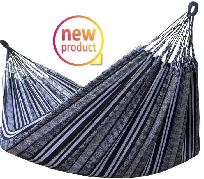 Tuchhängematte aus Kolumbien - schwarz-weiß