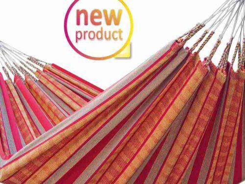 Tuchhängematte aus Kolumbien - orange-rot
