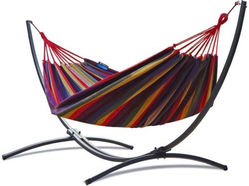 Single Hängemattengestell mit Hängematte colorful